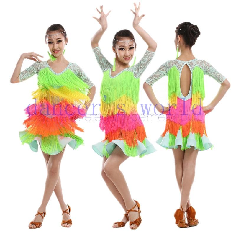 Здесь продается  New Adult girls Latin dance costume senior lace long sleeves latin dance dress for women/child latin dance  dresses S-4XL  Одежда и аксессуары