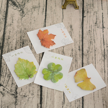 Красочные упавшие акварельные листья записная книжка Блокнот записная книжка самоклеящаяся липкая закладка для заметок рекламный подарок канцелярские принадлежности