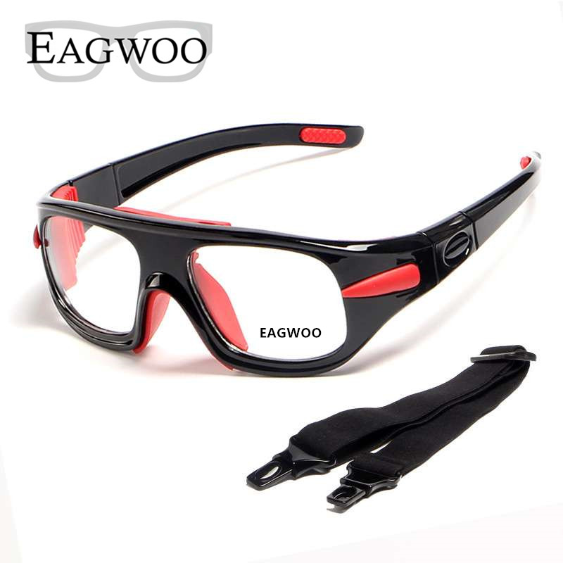 Eagwoo Adult outdoor sports basketball football glasses volleyball tennis goggles Detachable Temple Prescription Lenses Workable