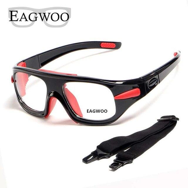 Eagwoo למבוגרים חיצוני ספורט כדורסל כדורגל משקפיים כדורעף טניס משקפי להסרה מקדש מרשם עדשות עביד
