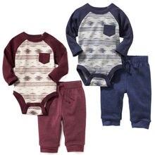 Детская одежда для девочки топы, штаны с длинными рукавами Милый хлопковый комплект одежды из 2 предметов рождественские комплекты одежды для маленьких мальчиков и девочек от 0 до 24 месяцев