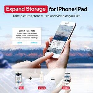 Image 2 - Ugreen USB Flash Drive USB Pendrive for iPhone Xs Max X 8 7 6 iPad 16/32/64/128 GB Memory Stick USB Key MFi Lightning Pen drive