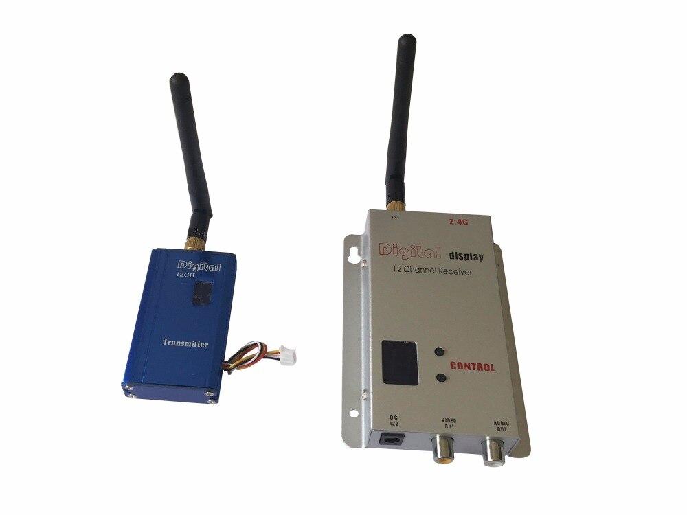 2400Mhz 1000mW FPV Wireless Video Transmitter and Receiver, 1-2 KM Long Range Drone Video Sender 12 Channels FPV Video Link 2 4ghz 200mw wireless video transmitter transmit range 400m fpv transmitter uav video link cctv av sender