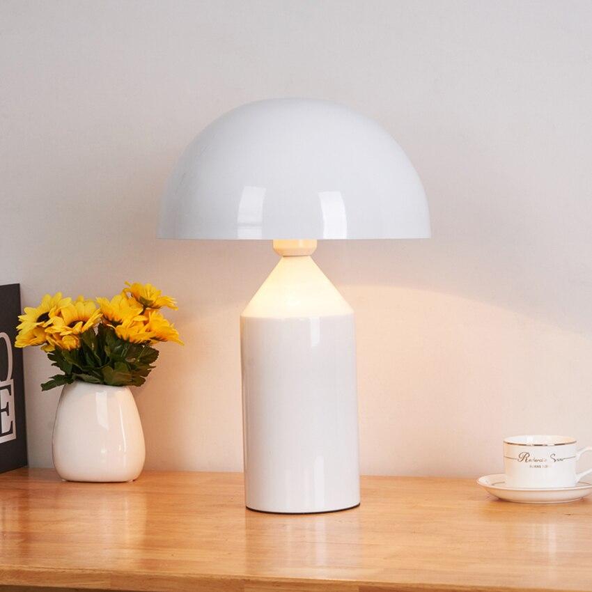 Современный дизайн гриб черный светодиодный Настольный Светильник Освещение Гостиная Спальня Кабинет прикроватный Настольный светильник - 5