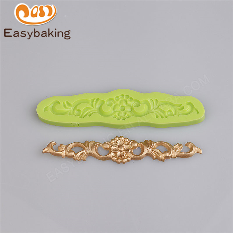 lindamente diseo barroco fondant decoracin de pasteles molde de arcilla de polmero de fimo resina molde