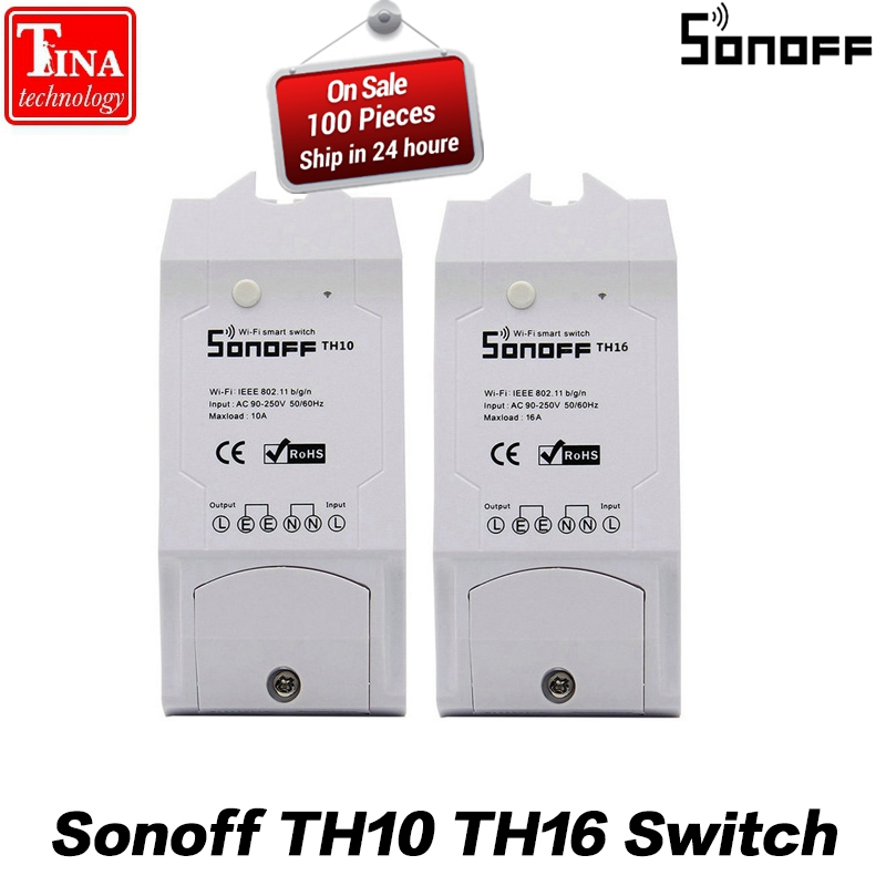 Sonoff TH10 TH16 10a/16a Smart Automation Modules Wifi Wireless Switch Remote Control for Smart Home Temperature and Humidity itead sonoff th 10a 16a temperature and humidity monitoring smart home automation modules wifi smart switch wifi remote switch