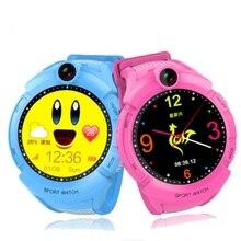 Q360 Crianças Relógios Inteligentes com Câmera Tela de Toque smartwatch SOS GPS Localização Criança Anti-Perdido Do Monitor Rastreador relógio bebê