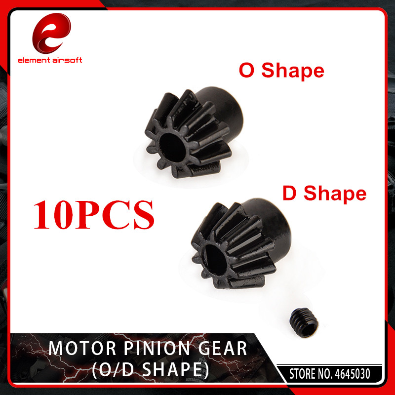 10 PCS/Lot Element Motor Pinion Gear (type O/ Type D) For Airsoft AEG Motor Hunting Accessories GB06001/GB06002-BK