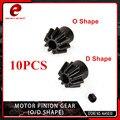Engranaje de piñón del Motor del elemento 10 unids/lote (tipo O/tipo D) para Airsoft AEG Motor accesorios de caza GB06001/GB06002-BK