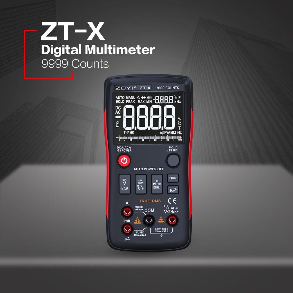 ZT-X Multimetro Digitale Mastech Transistor multimetro Tester rm esr 409b Volt Amp Ohm Tester Elettrico del Tester Vero RMS multimetr