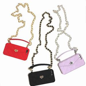 Image 3 - Wallet Case For iPhone 12 Mini 11 Pro Max SE 2020 XR X 10 8 7 6s 6 Plus XS Max Soft Silicon Handbag Purse Phone Cover Long Chain