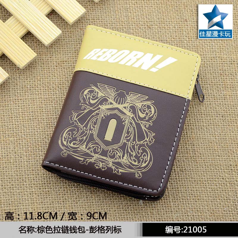 Japanese Anime Hitman Reborn the Symbol of Vongola Famiglia PU Short Wallet Purse With Zipper