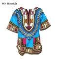 2016 Новая Конструкция Способа Африканский Традиционный Печати 100% Хлопок Dashiki Футболка Для Унисекс (быстрая доставка)