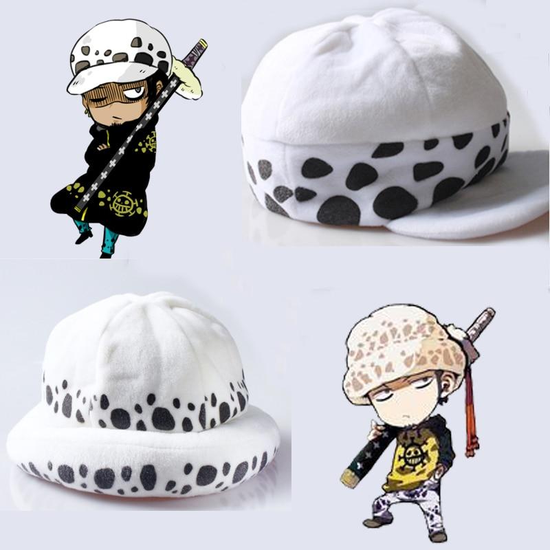 Anime One Piece Death Surgeon Plush Hat Trafalgar Law Cosplay Cap Costume Beanie