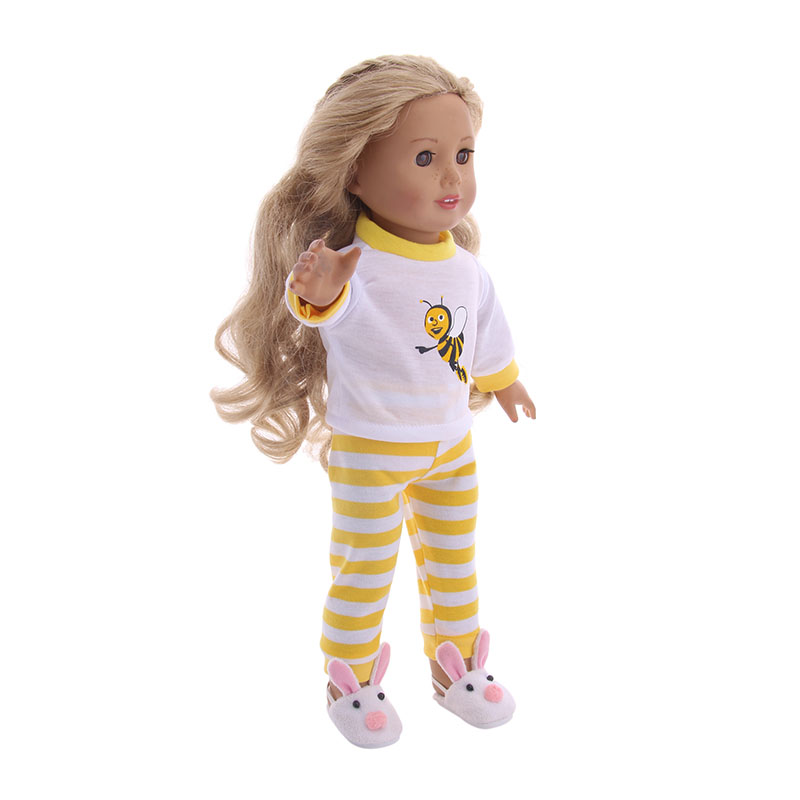 Newborn Cute Pajamas Clothes Doll Accessories  Dress For Dolls