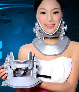 Cervical traction apparatus with high quality household fixed cervical stretched neck massager massage pillow adult cervical traction apparatus inflatable support fixed tuohu neck with neck stretching his neck