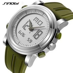 Image 4 - SINOBI גברים דיגיטלי שעון יד איש הכרונוגרף שעונים עמיד למים ז נבה קוורץ ספורט ריצה שעון שעון Relogio Masculino