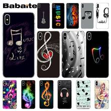 Babaite Love music note headset Soft Silicone TPU Phone Cover for iPhone X XS MAX 6 6S 7 7plus 8 8Plus 5 5S XR(China)