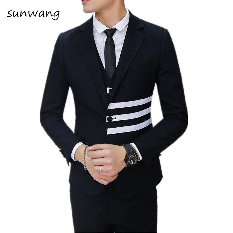 Custom Made Black gray latest coat pant designs Men Suit ...