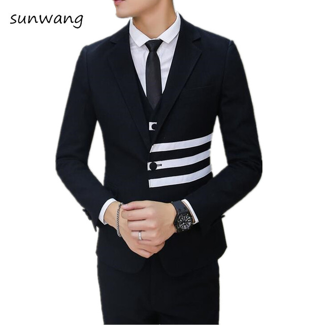 32249295d18 Custom Made Black gray latest coat pant designs Men Suit Groomsmen Men s  Wedding Suit Best Men