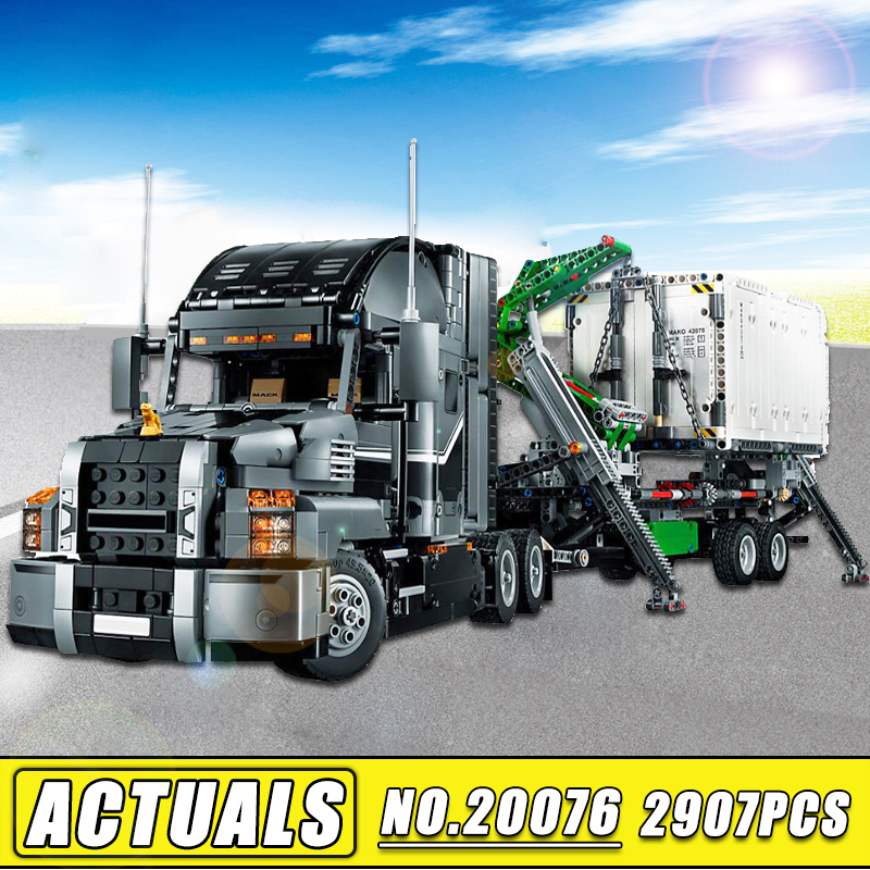 2018 New IN STOCK Lepin Technic 20076 Set the Mack Big Truck Model Building Blocks Bricks Compatible 42078 Children Toys Gift