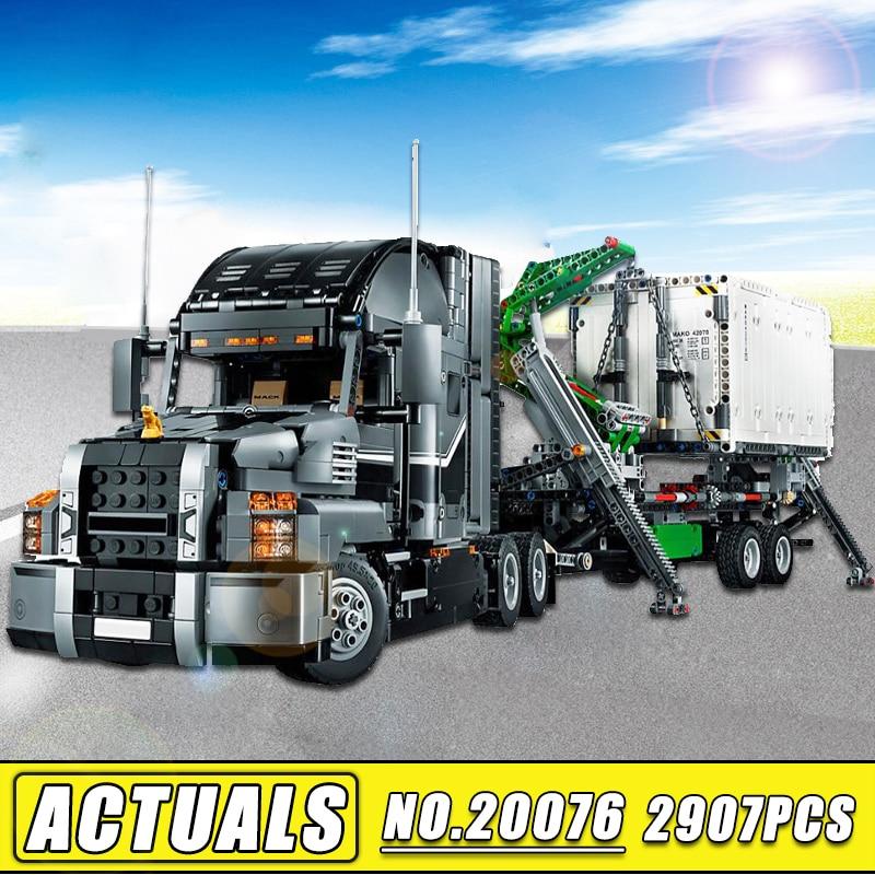 2018 New IN STOCK Lepin Technic 20076 Set the Mack Big Truck Model Building Blocks Bricks Compatible 42078 Children Toys Gift new in stock skkd81 14