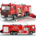 Масштаб Сплава Автомобиля Игрушки 1:50 Литого Металла + ABS Пожарная машина Модель, нежный Сосуд Для Воды Пожарной Аварийно-Спасательной Грузовик Игрушки для Детей Brinquedos