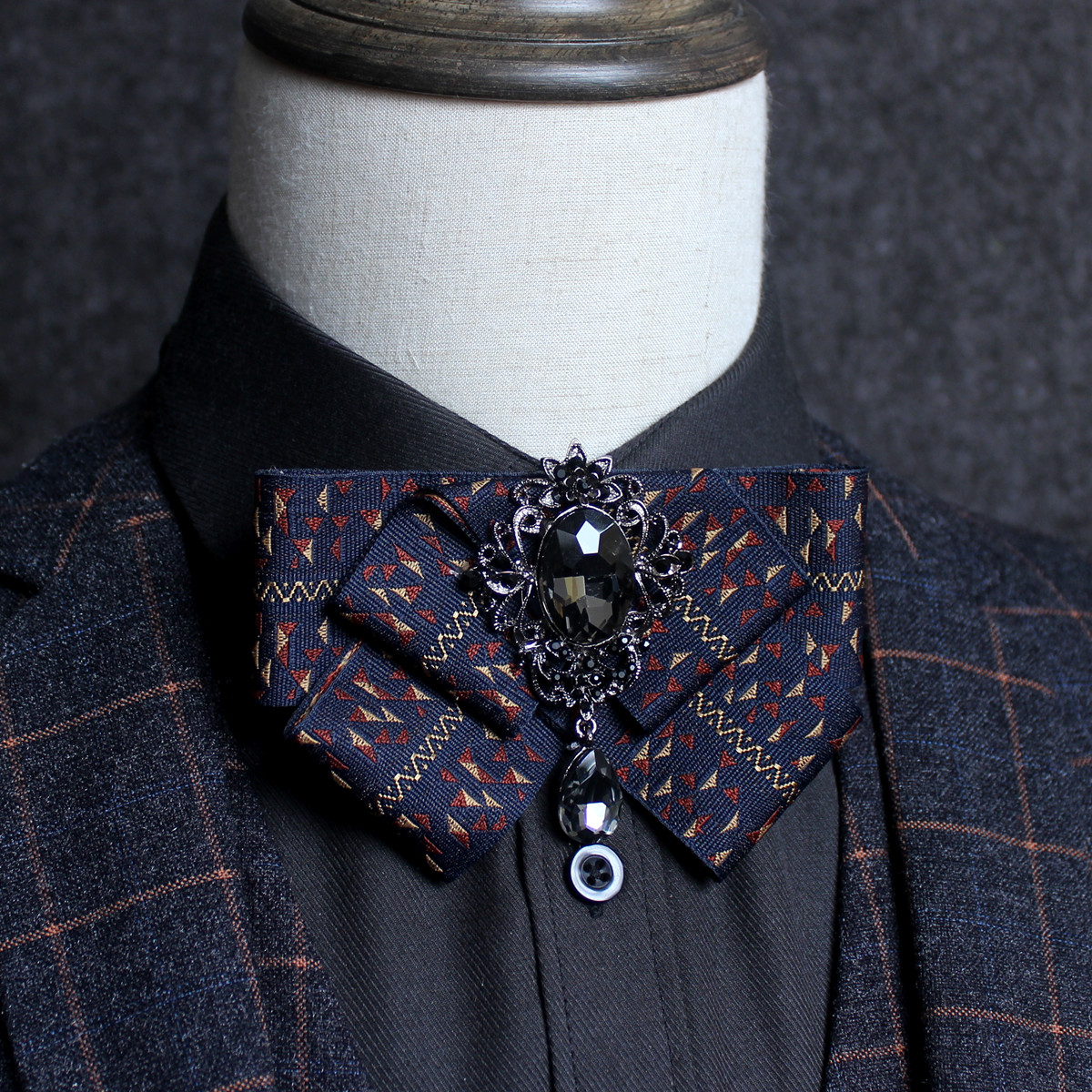 New men's suit shirt rhinestone bow tie High quality fashion men accessories bow tie