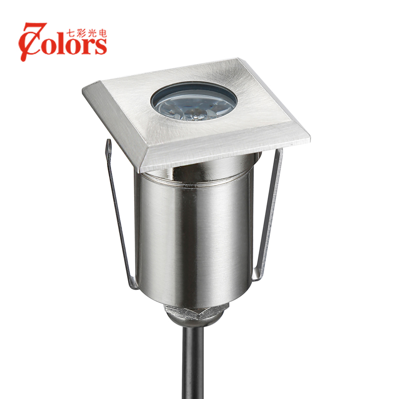 7Colors LED Grondspot Outdoor LED IP67 Waterproof High Power 1 5 3W Park Light DC12V Recessed
