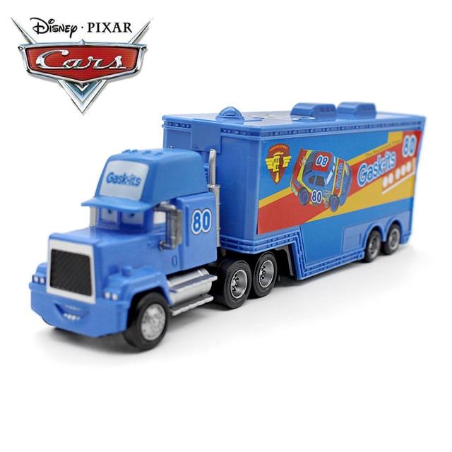 3d0831168 Car Disney Car 3 Car 2 Blue Lightning McQueen Mack Truck Set Toy Car  Diecast Metal