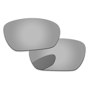 Chrome Silver Mirror Polarized Replacement Lenses For Inmate Sunglasses Frame 100% UVA & UVB Protection