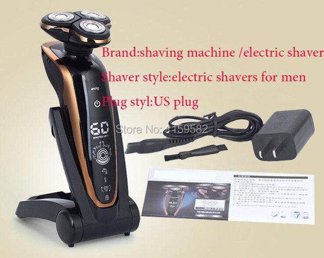 2017 new Washable Rechargeable Electric Shaver Triple Blade Electric Shaving Razors Men Face Care trimming trimmer shavers