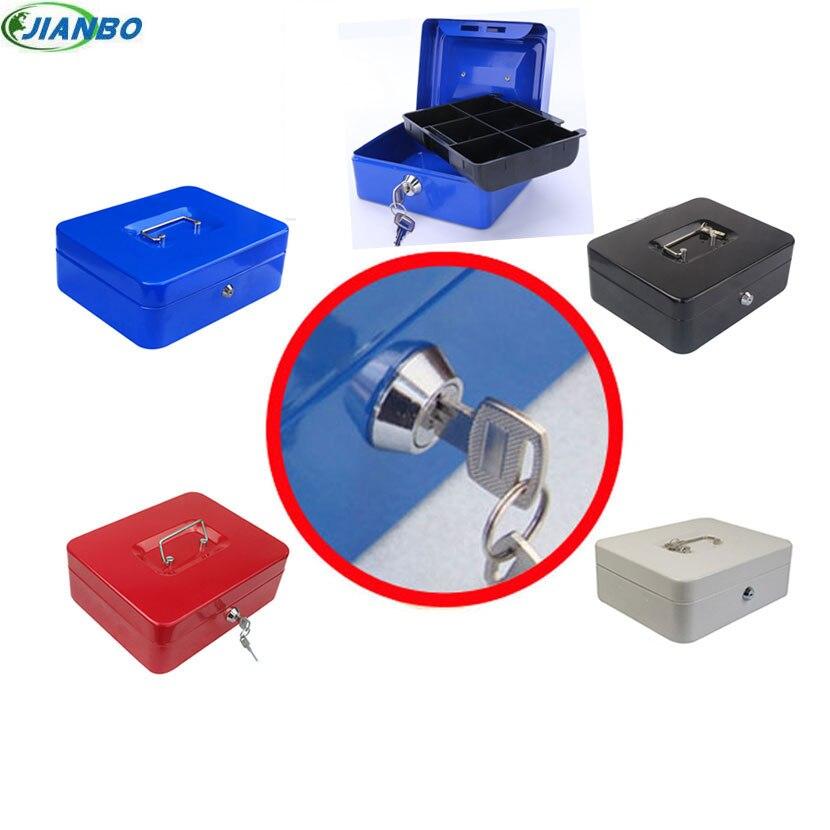 caixa de coleta de caixa de armazenamento de joias portatil seguro caixa de dinheiro para o
