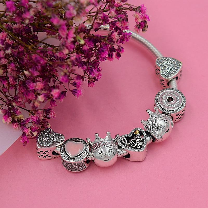 smyckeskapning Handgjorda blommor diy pärlor Passar pulseira pandora - Märkessmycken - Foto 2