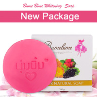 Thailand Bumebime Handmade Soap White Natural Soaps Skin Whitening Bath and Body Works Fruit Essential Oil Soap 100g Skin Care