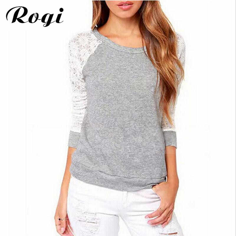 Rogi Vetement Femme 2019 Spring Women Backless Long Sleeve Harajuku Blouses Shirts Lace Crochet Ladies Tops Blusa Camisas Mujer