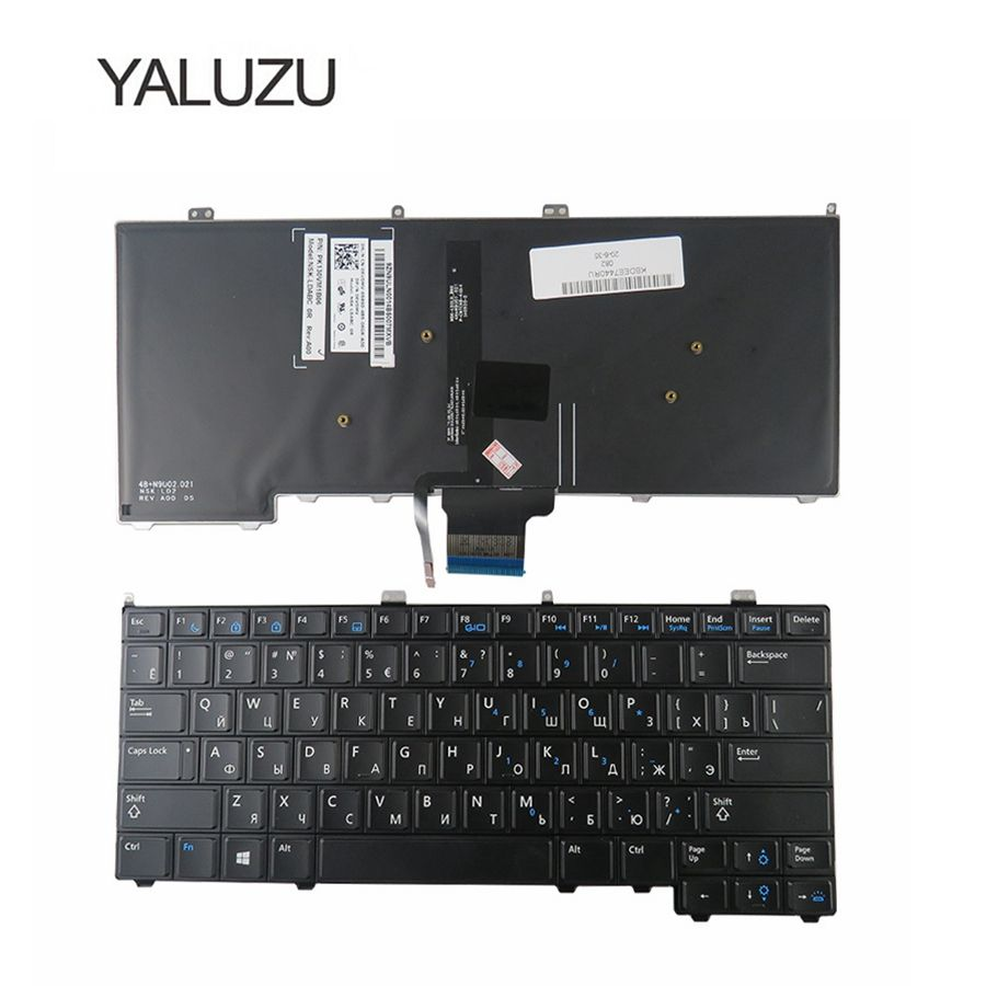YALUZU NEW for DELL for Latitude E7440 E7240 russian laptop Keyboard with backlit RU backlight keyboard laptop keyboard for dell latitude d410 black with pointing po portugal 9j n3582 l04 nsk d4l04