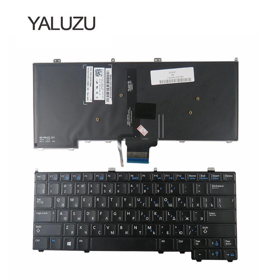 YALUZU NEW for DELL for Latitude E7440 E7240 russian laptop Keyboard with backlit RU backlight keyboard russian new keyboard for for hp folio 13 13 1000 13 2000 ru laptop keyboard backlight