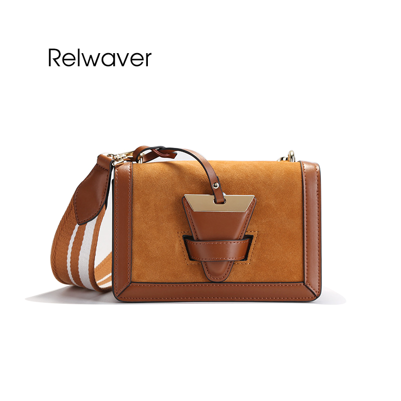 Relwaver women's suede shoulder bag small split leather women messenger bags fashion stylish flap crossbody bags for women cuckoobird fashion women s messenger bag small flap crossbody bags vintage spring women shoulder bag blue leather women bag