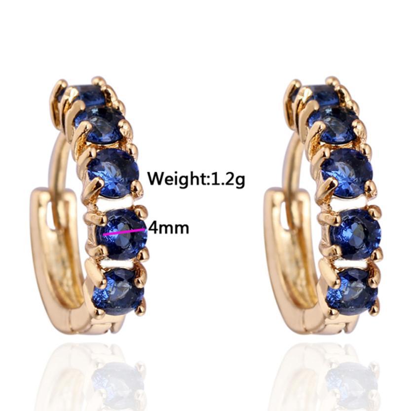 US $1 64 42% OFF|SUSENSTONE 1Pair Girls Women Rhinestone Earrings Ear Hook  Stud Jewelry ilver earrings jewelry box target #910-in Hoop Earrings from