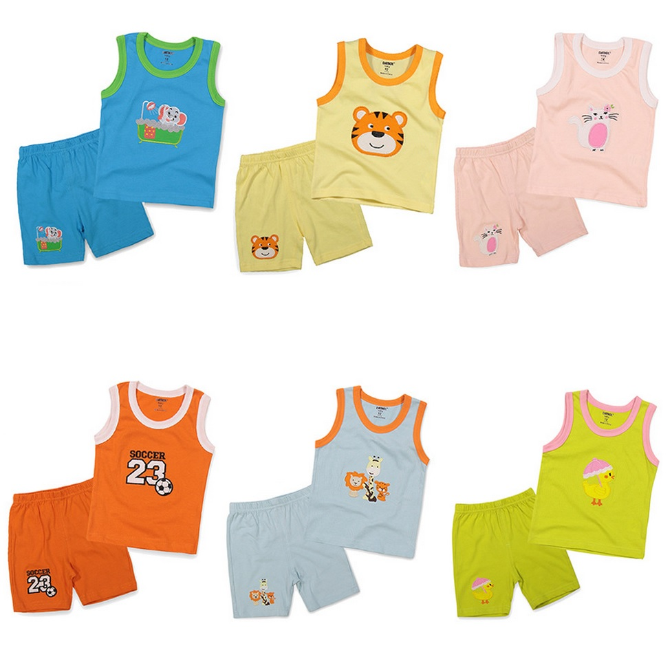 ebd0df48a288 Hooyi Newborn Clothes Set Summer Baby Boy Singlet Vest Shorts Pant ...