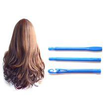 55cm 18Pcs Spiral DIY Magic Plastic Hair Curler  Rollers Size Styling Tools With 3 Stick Hooks Diameter 2.5cm