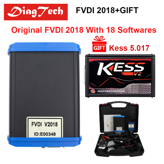 Big Promo Factory Price Original FVDI 2018 ABRITES +KESS 5.017 Diagnostic Tool Cover All Functions Of 2014 2015 With 18 Softwares DHL Free