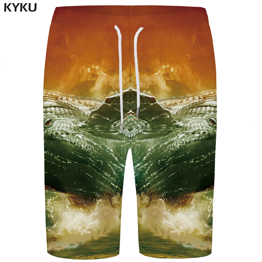 KYKU Wave   Board     Shorts   Men Shark Boardshorts Sailboat 3d Printed   Short   Pants Beach Hip Hop Vintage Mens   Shorts   Quick Silver New