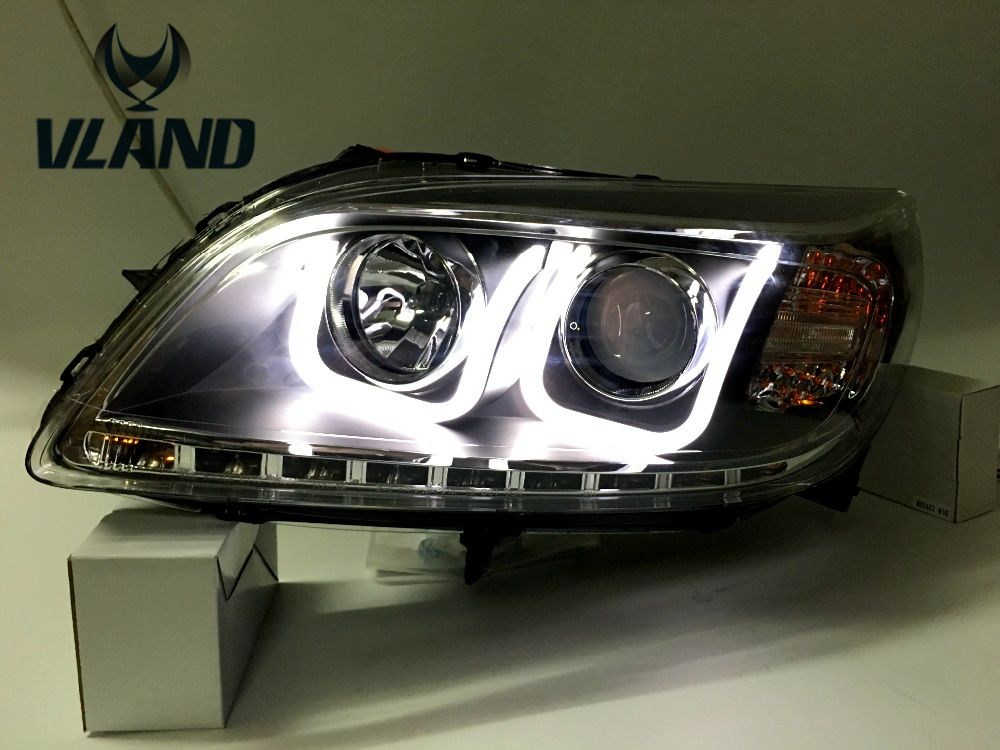 Free shipping vland factory for  MALIBU LED headlight 2012 2013 2014 ! HID(Xenon lamp)  Hight brightness!with turning light !