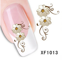 Flower Design Nail Stickers Decals Manicure Water Transfer Nail Art Sticker Decal Foil Fingernail Tips Decoration Makeup Tools