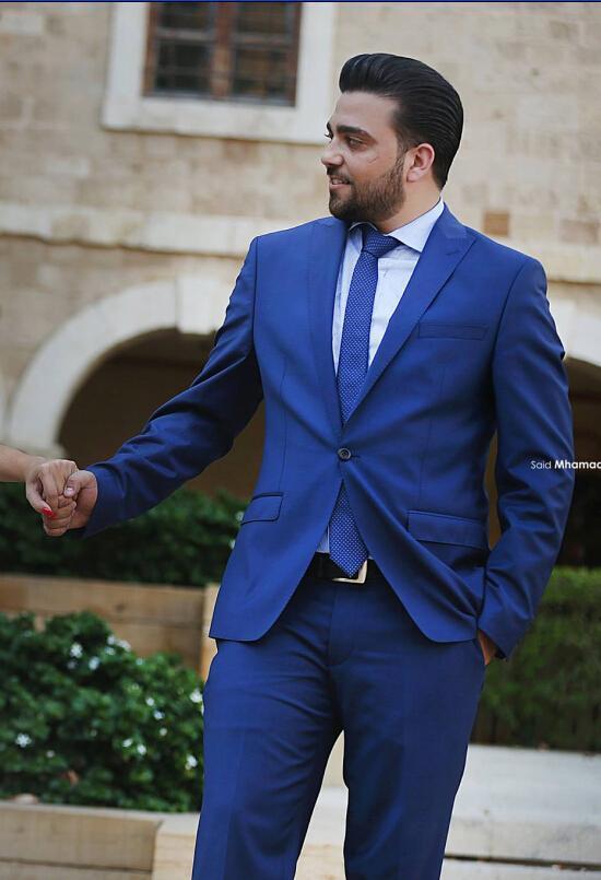 K:1990 Loyal Burgundy Mens Suits Groom Tuxedos Groomsmen Wedding Party Dinner Best Man Suits Blazer jacket+pants+bow Tie