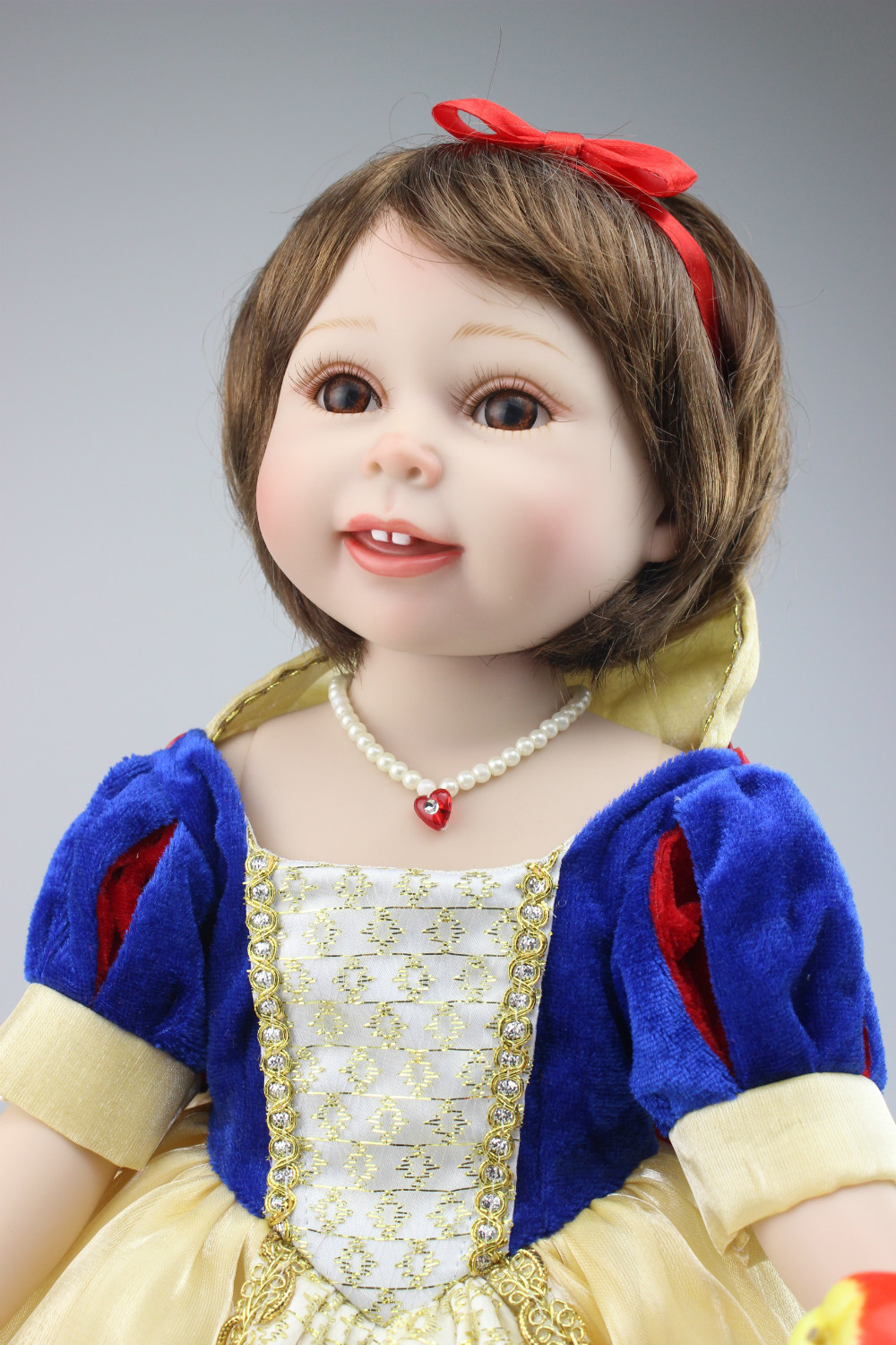 New Style SD/BJD Full Vinyl Babydoll Realistic American Girl Short Hair Style DIY Doll 18inches Children Toys lifelike american 18 inches girl doll prices toy for children vinyl princess doll toys girl newest design