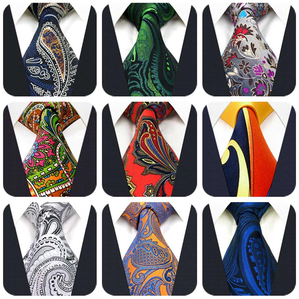 Fashion Paisley Mens Necktie Silk Jacquard Woven Accessory Wedding Ties For Men Classic Party