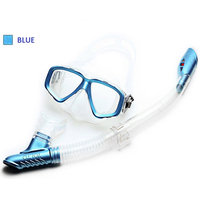 Various Colors Diving Mask and Snorkel Set Metal Pattern Goggles Breathing Tube for Deep Diving Snorkeling Under Water Swiming
